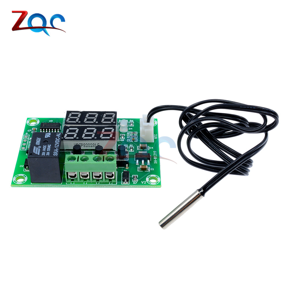 W1209WK W1209 WK W1219 DC 12V LED Digital Thermostat Temperature Control Thermometer Thermo Controller Switch Module +NTC Sensor 15