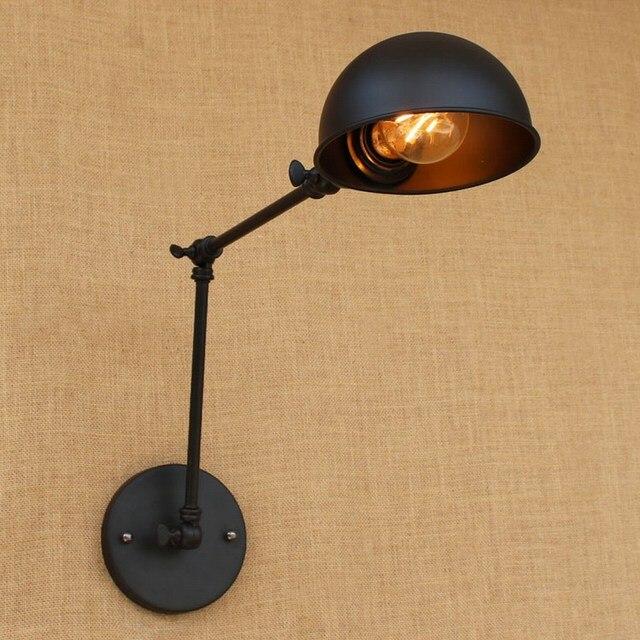 Loft vintage Long Swing arm adjustable Industrial iron black Wall Lamps sconce E27 wall lights for bedroom Bathroom living room