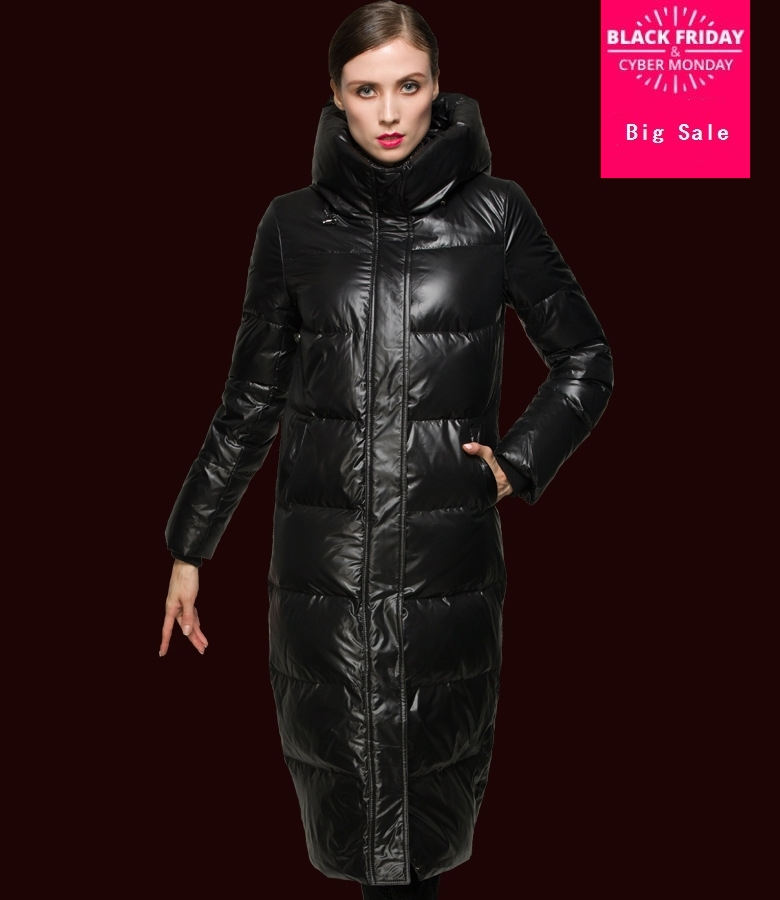Winter Plus size 90% white duck   down   thicker warm   coat   Fashion female hooded longer warm fashion brand EVA   down     coat   wj1584