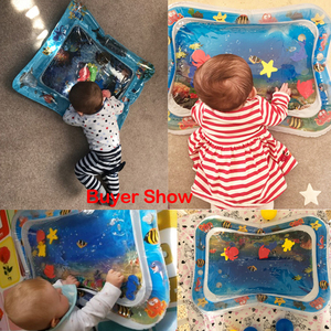 Image 5 - Summer inflatable water mat for babies Safety Cushion Ice Mat Early Education Toys Play Support Dropshipping