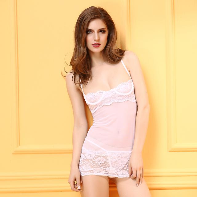 Europa y los Estados Unidos Las mujeres pijamas transparentes sexy ropa interior trajes de apelación
