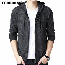 COODRONY Thick Warm Sweater Men 2018 Winter New Arrival Casual Hooded Sweatercoat Zipper Knitted Cashmere Wool Cardigan Men 8249