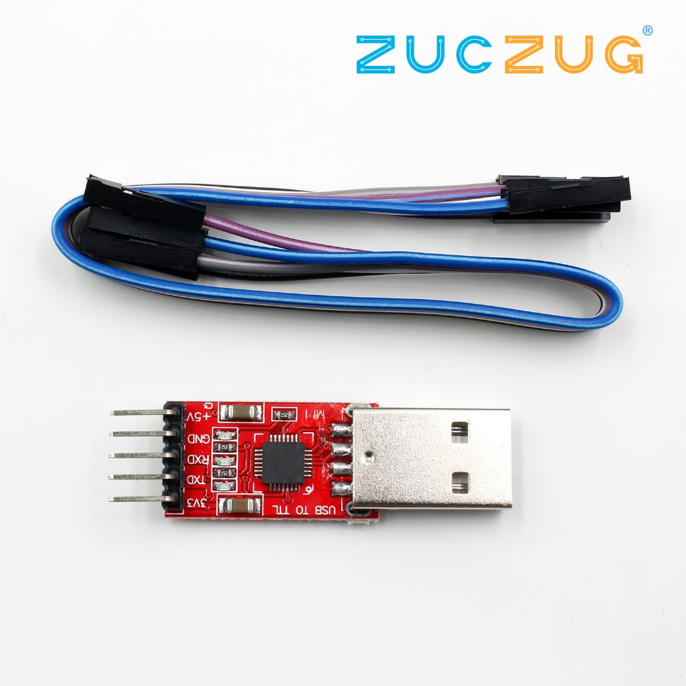 1pcs CP2102 Module USB To TTL Serial UART STC Download Cable PL2303 Super Brush Line Upgrade(RED)