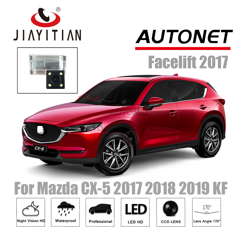jiaYiTian Rear View camera For Mazda CX-5 cx5 2017 2018 2019 KF CCD Night Vision Backup CAM Reverse camera license plate Camera