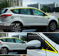 12P FOR 2013 FORD ESCAPE KUGA CHROME WINDOW DOOR AROUND LINE SILL MOULDING TRIM