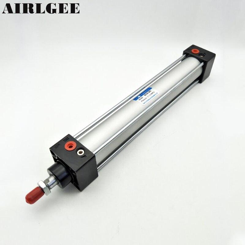 Cylindres à air Standard 32mm alésage 200mm course tige de Piston vissée simple 32x200 cylindre pneumatique à double Action