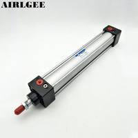 Single Screwed Piston Rod 32 X 200 Dual Action Pneumatic Cylinder