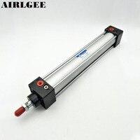 Single Screwed Piston Rod 32 X 200 Dual Action Pneumatic Cylinder