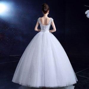 Image 2 - אופנה קלאסי רומנטי אדום חתונת שמלה מתוקה אורגנזה פניני Ruched חתונה שמלות יפה מסיבת כדור שמלה מותאם אישית