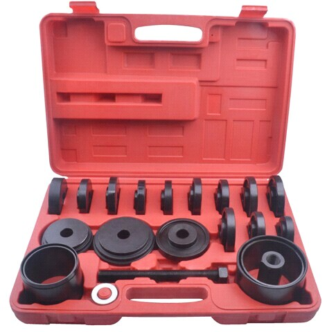 Wheel Bearing Removal Professional Tool Set Kit For Front Wheel Drive Heavy Duty 19pcs master front wheel hub drive bearing removal install service tool kit