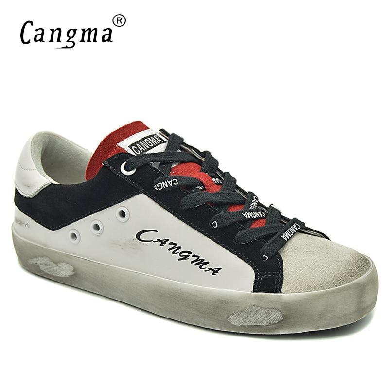 70de571f6db CANGMA Big Size Vrouw Schoenen Merk Wit Retro Dames Schoenen Lederen  Sneakers Suede Casual Schoeisel Flats Meisje Schoen Luxe in CANGMA Big Size  Vrouw ...