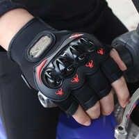 Nuevos Guantes de Motocicleta de medio dedo para carreras de motos de verano de protección respirable para montar Guantes Moto guante verde rojo