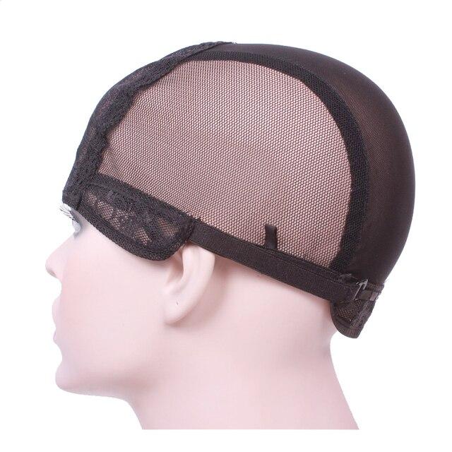 Парик шапки для изготовления париков с регулируемым ремешком на спине ткачество cap размер S/M/L бесклеевой caps хорошее качество Волос Чистая