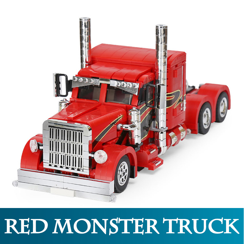 0598b Red Monster Truck Bigfoot Car-wall Sticker Silk Poster Light Canvas Decoration Home Decor