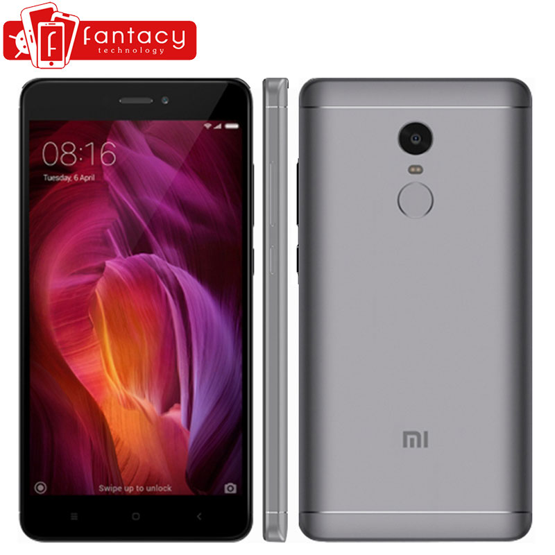 "Original Global Version Xiaomi Redmi Note 4 Snapdragon 625 Smartphone 5.5"" FHD 3G RAM 32G ROM 13MP Fingerprint ID MIUI 8.1 CE"