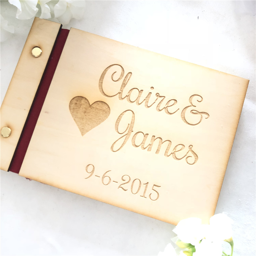 Gift For Couple On Wedding: Personalised Love Wedding Guest Book Gift For Couples