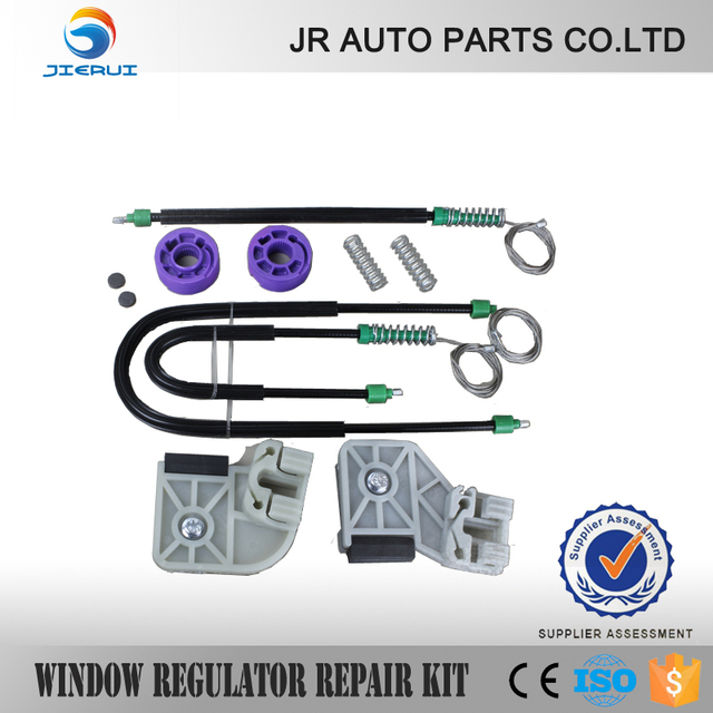 JIERUI  VW POLO 9N WINDOW REGULATOR REPAIR KIT FRONT-RIGHT  NEW BRAND SET ,ISO9001 FREE SHIPPING