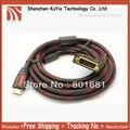 Бесплатная Доставка Позолоченный HDMI Мужской к DVI 24 + 1 Мужской Кабель 5 М 15FT HDMI DVI-D Кабель Для HDTV PC Monitor ЖК-
