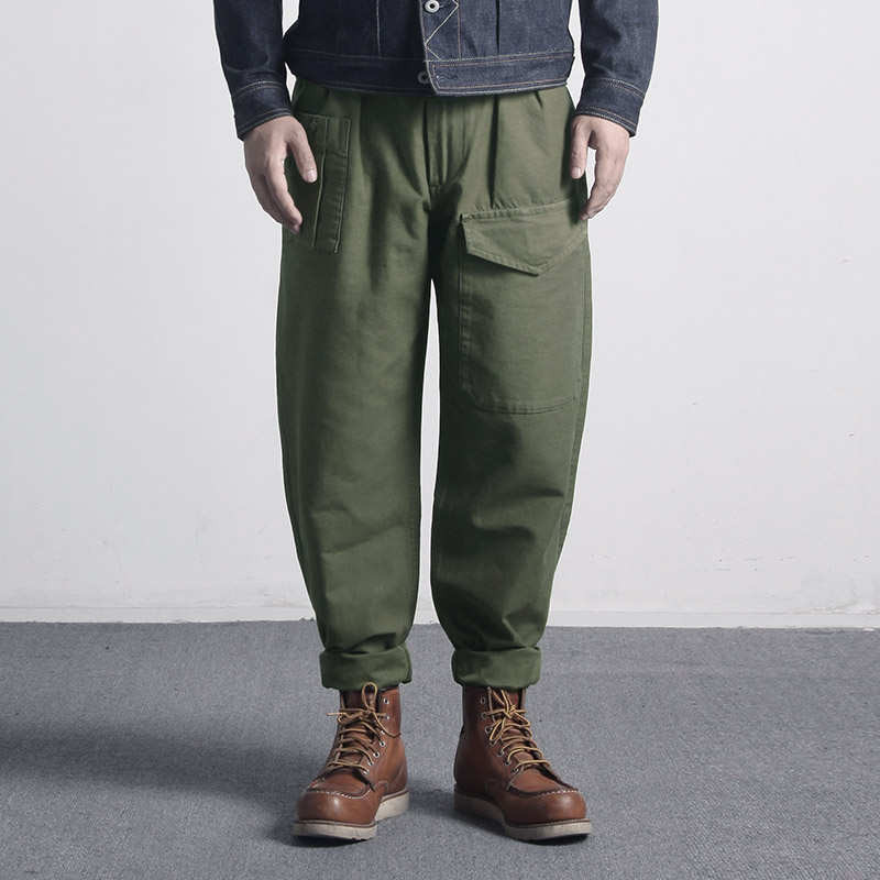 NC-0002 Us Military Style Cargo Pants Mens 10 Oz Cotton Vintage OG107 Loose Casual Pants