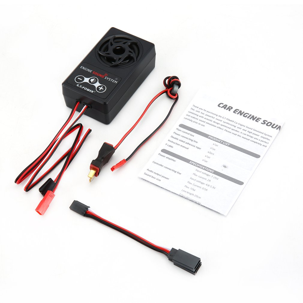 G.T.Power Engine Sound Simulated System For RC Car Axial SCX 10 II WRAITH Traxxas TRX4 Build-in 58 Kinds Of Sounds