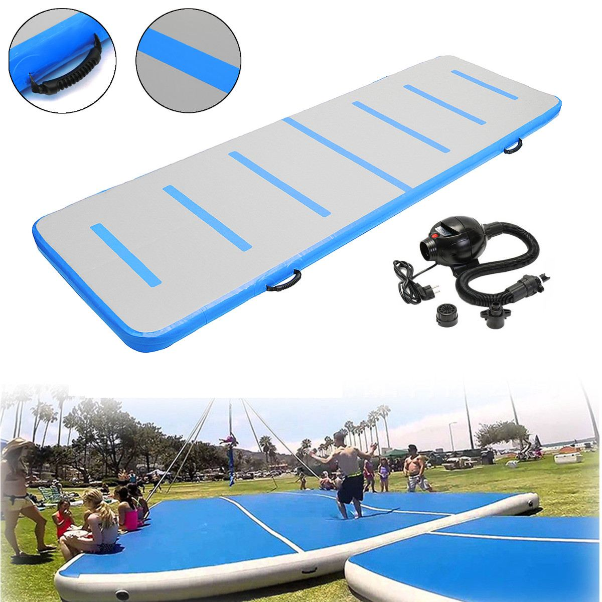 300x90x10cm Inflatable Air Track Tumbling Floor Gymnastics Training Pad GYM Mat Taekwondo Air Cushion with pump free shipping 6 2m inflatable gym air track inflatable air track gymnastics