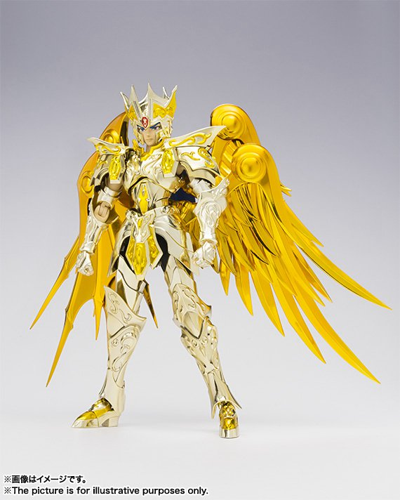 19cm Genuine Saint Seiya EX Gold Soul God Gemini Saga Pope PVC+ Alloy Model Figure Toys high quality gold soul saint seiya ex gold saint aquarius bottle camus model toys