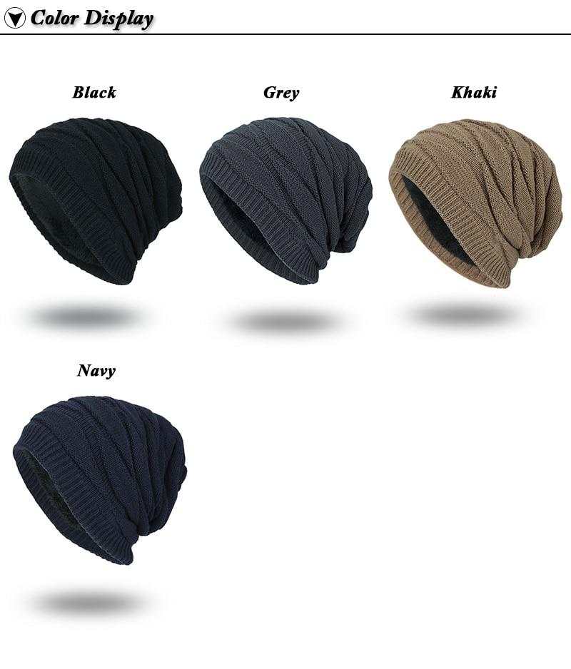 Winter Autumn Beanies Hat Unisex Plain Warm Soft Skull Knitting Cap ... a214c2c60e61
