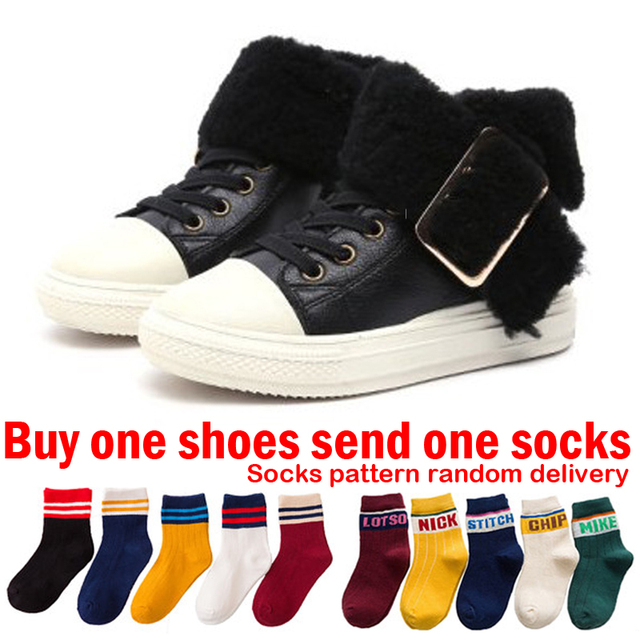 7ab621998 Toddler Kids Winter Boots For Boys Winter Shoes For Girls Sneakers ...