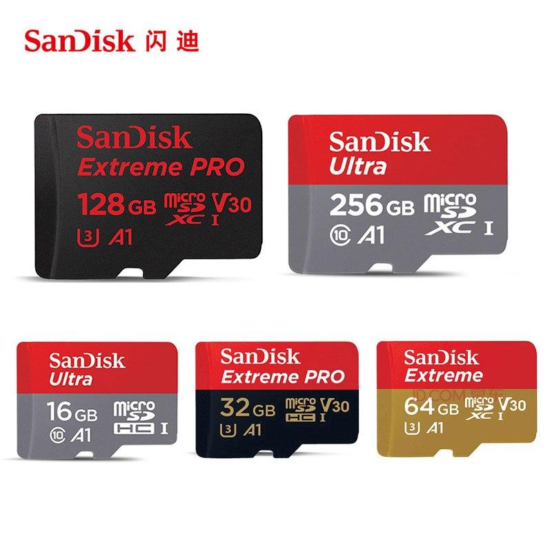 Оригинальный SanDisk Micro SD Card Reader 32 ГБ 16 ГБ 64 ГБ 128 ГБ карты памяти класса 10 U3 U1 4 К microsd флэш-карты памяти Бесплатная адаптер