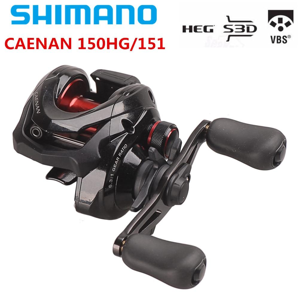 Original SHIMANO CAENAN 150HG/151 Baitcasting Fishing Reel 6.3:1/7.2:1/5KG HEG S3D Spool SVS System Bait Casting Fishing Reel