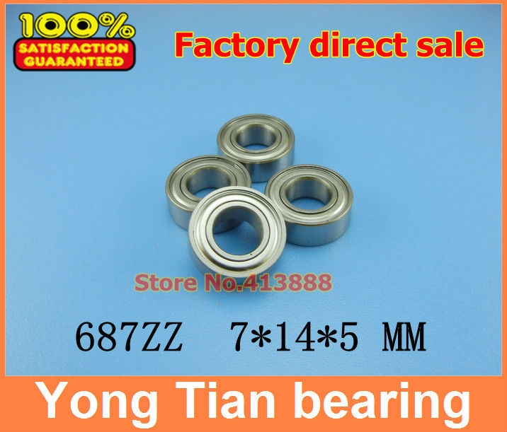 (1pcs) SUS440C environmental corrosion resistant stainless steel deep groove ball bearings S687ZZ 7*14*5 mm 4pcs lot high quality abec 1 z2v1 stainless steel deep groove ball bearings s6005zz 25 47 12 mm