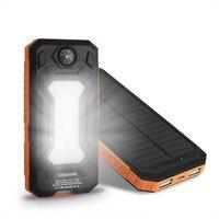 EIKE New 10000 mAh Solar Charger Portable Năng Lượng Mặt Trời Ngân Hàng Điện Ngoài Trời Khẩn Cấp Pin Ngoài cho Di Động Điện Thoại Máy Tính Bảng Ánh Sáng.