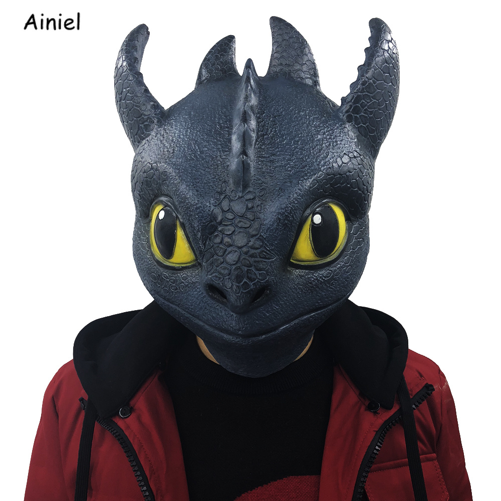 How To Train Your Dragon Cosplay Mask Night Fury Toothless Gronckle Terrible Terror Full Head Mask Helmet Halloween Adult Men