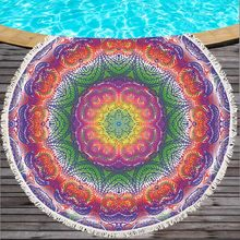 Sepanjang Feather Musim Panas India Pola Mandala Tapestry Dinding Gantungan Pantai Throw Handuk Yoga Alas Decorative150Cm Sepanjang Pantai Handuk(China)