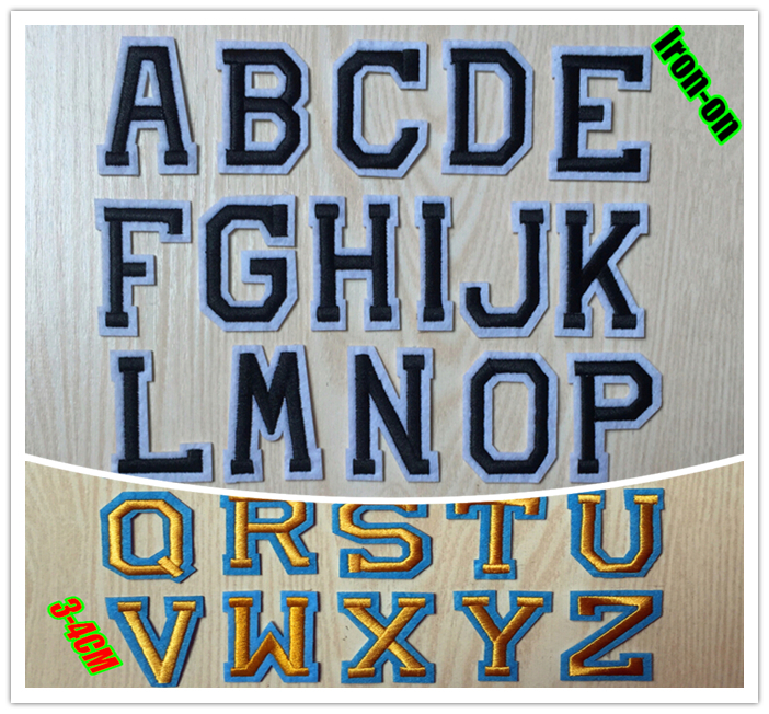 iron on monogram letters aliexpress buy functional embroidery letter patches 22599