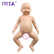 IVITA 46 см детская кукла игрушка реборн реалистичный силикон реборн Детские куклы Младенцы живые игрушки для детей искусственный Babydoll