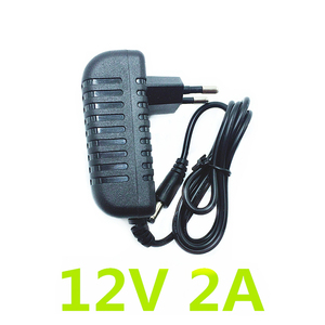 1PCS 24W EU US Plug Driver Adapter AC110V 220V to DC 12V 2A 5.5*2.1mm LED Power Supply For LED Strip Lights Transformer Adapter(China)