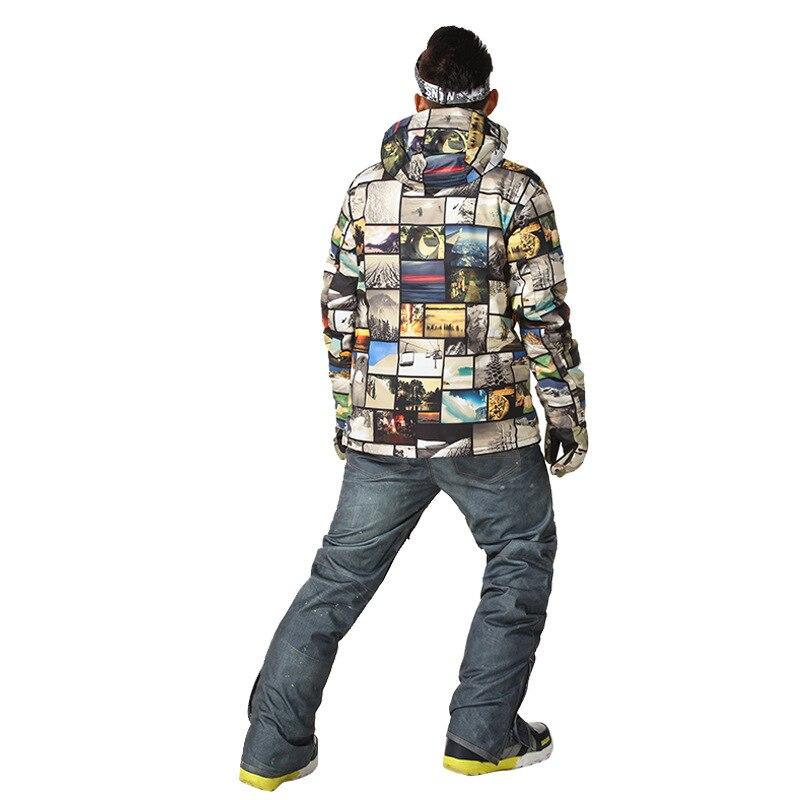 Gsou Snow costume de Ski extérieur pour hommes veste de Ski Double planche hommes chaud respirant imperméable coupe-vent vêtements en coton pour hommes - 5