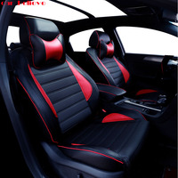 Car Believe Auto automobiles leather car seat cover For Ford Focus 2 3 Fushion mondeo Fiesta Edge Explore Kuga car accessories