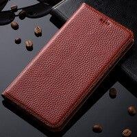 7 Color Natural Genuine Leather Magnet Stand Flip Cover For Xiaomi Redmi 5 Redmi 5 Plus