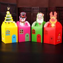 30pcs/lot Cute Cartoon Paper Folding Box Christmas Candy Kids Merry Gift Package Party Decoration