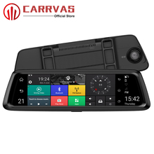 CARRVAS 10 inch Car GPS Mirror Support Bluetooth Android 5.0 Navigators Automobile with DVR Stream Media 4G FHD Vehicle