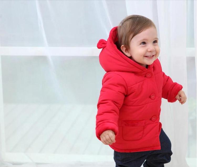Winter Baby Snowsuit Warm Jackets & Coats Girls Designer Baby Clothes Branded Velvet Cute Bear Ear Overall Newborn Outerwear (19)