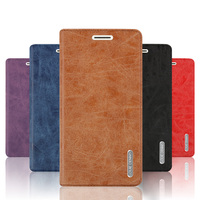 High Quality For Xiaomi Redmi Note 4X Retro Matte Leather Sucker Cover Case Flip Stand Card
