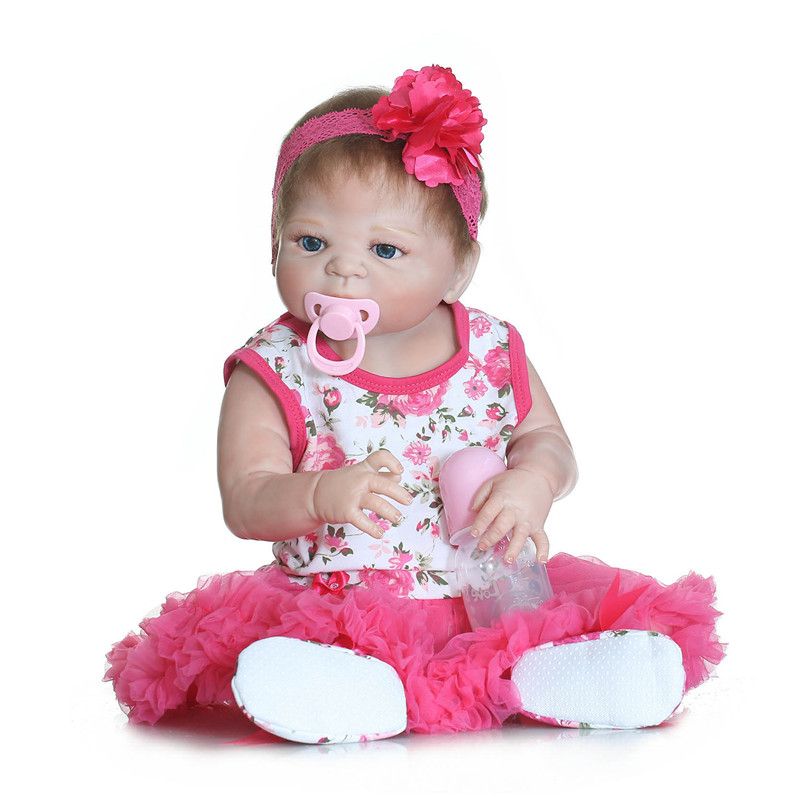 ФОТО 55cm silicone reborn babies dolls toys for children newborn lifelike princess doll reborn kids brinquedos baby born doll alive