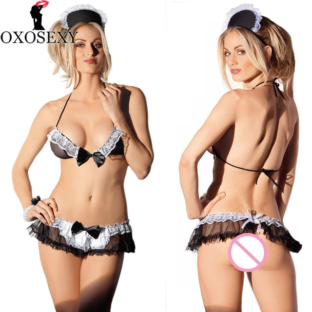 sexy Charming naughty maid maid cosplay sexy lingerie hot lace sexy costumes erotic lingerie maid sexy underwear for women 447