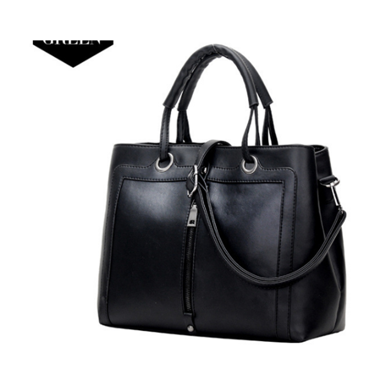 цены New Arrivals High Quality Leather Women Bag Bucket Shoulder Bags Solid Big Handbag Large Capacity Top-handle Bags black/gray/red
