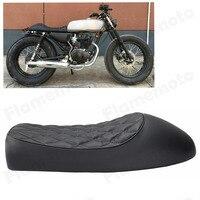 motorcycle Black Cafe Racer Vintage Saddle Hump Custom Seat For Honda CL350 CL450 CB350 CB400F CB750