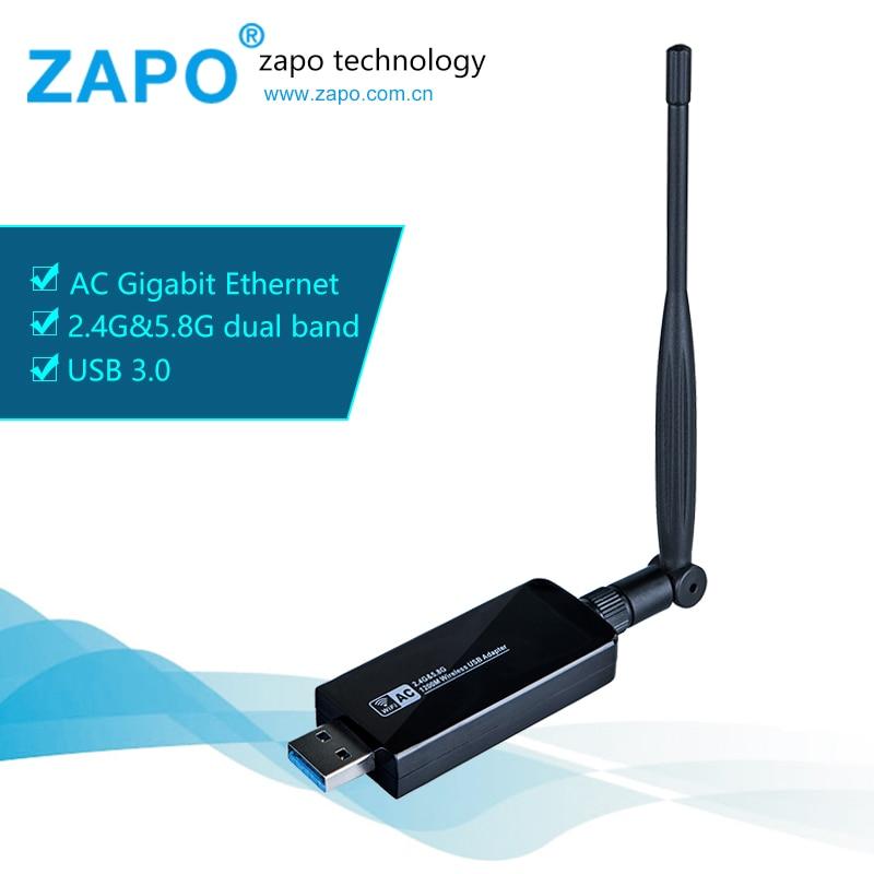Товар ZAPO Gaming <b>5GHz</b> WIFI USB 3.0 <b>1200Mbps</b> Adapter Dual ...