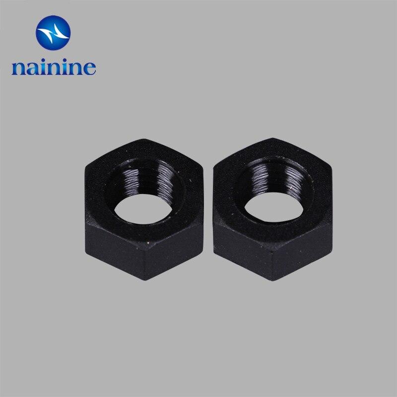 50Pcs DIN934 M2 M2.5 M3 M4 M5 M6 M8 Black Nylon Hex Nut Hexagon Plastic Nuts NL14 1000pcs m4 metric thread insulation plastic nylon hex nut screw nut black hexagon nylon nuts